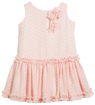 Helena Pretty in Pink Polka-Dot Ruffle Dress, Size 2-6