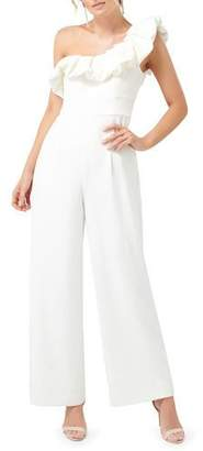 Ever New One-Shoulder Frill Jumpsuit