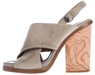 Vince Suede Ankle Strap Sandals