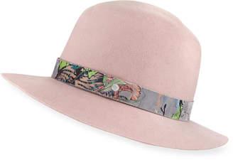 Rag & Bone Floppy Brim Wool Fedora Hat w/ Velvet Band