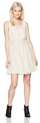 Amy Byer A. Byer Sleeveless Scallop V-Neck Belted Dress (Junior's)