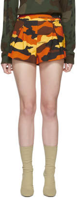 Off-White Multicolor Camo Pleats Shorts