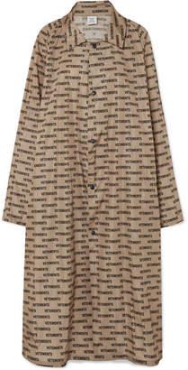 Vetements Printed Coated-shell Raincoat - Beige