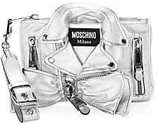 Moschino Women's Metallic Biker Jacket Shoulder Bag