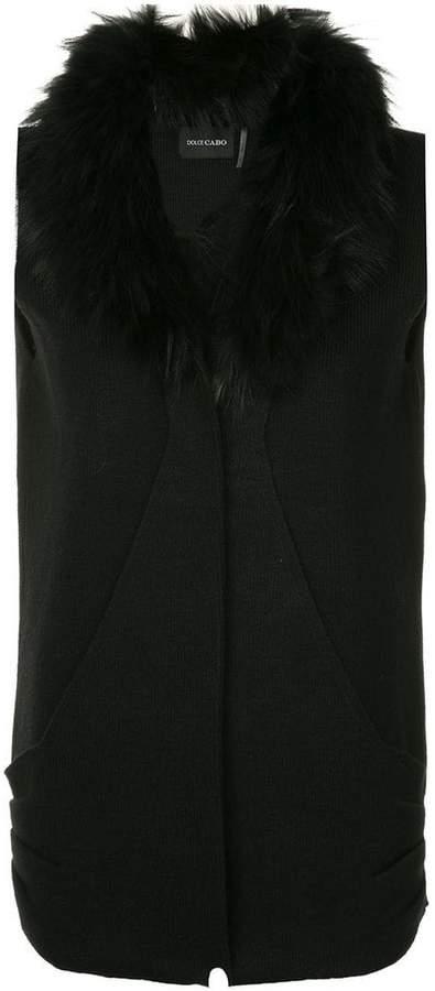 Dolce Cabo faux fur collar vest