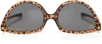 Mykita + Martin Rose SOS Reversible Leopard-Print Acetate Sunglasses