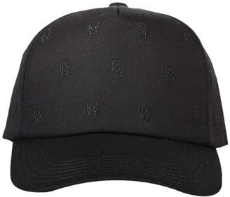 Lucien Pellat-Finet Tiny Skull Embroidered Cap
