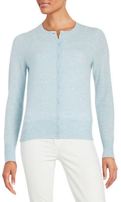 Lord & Taylor Basic Crewneck Cashmere Cardigan $174 thestylecure.com