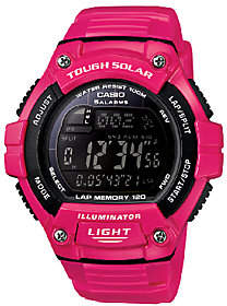 Casio Women's Pink Tough Solar Illuminator Spor t Watch