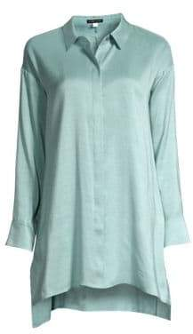 Eileen Fisher Longline Silk Shirt