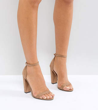 Barely There Asos Design ASOS DESIGN Highball Block Heeled sandals