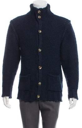 Oliver Spencer Wool-Blend Open-Knit Cardigan