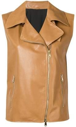 Brunello Cucinelli biker waistcoat