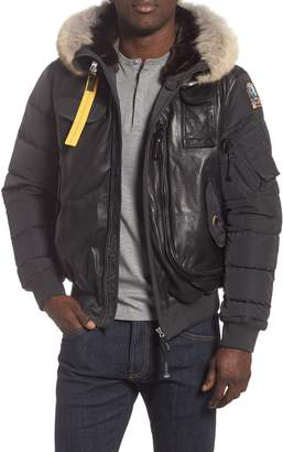 Parajumpers Grizzly Down Bomber Jacket with Genuine Coyote Fur Trim