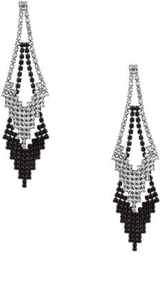 GUESS Crystal Chevron Drop Earrings