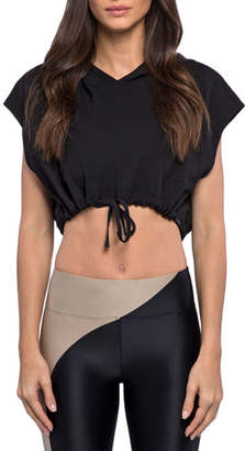 Koral Activewear Stranger Daze Hooded Active Crop Top