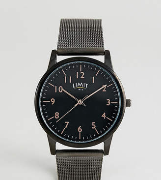 Limit Mesh Watch In Black Exclusive To ASOS 38mm