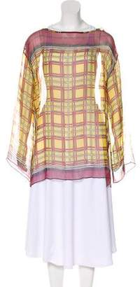 Jean Paul Gaultier Soleil Silk Sheer Tunic
