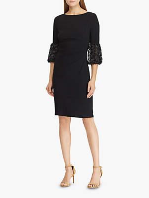 Ralph Vidella Dress, Black/Silver
