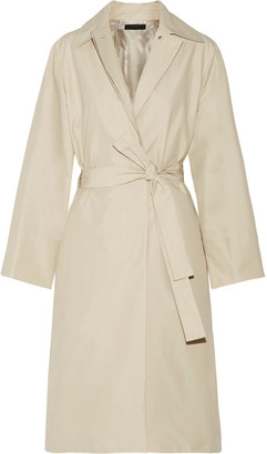 Trentz Cotton-blend Poplin Trench Coat - Beige