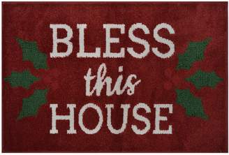 St Nicholas Square Supersoft Bless this House Holiday Rug - 24'' x 36''