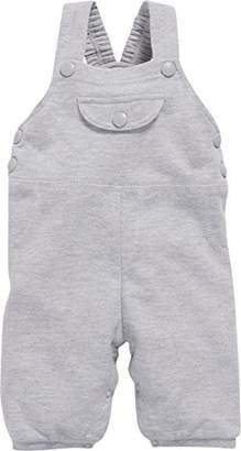 Playshoes Baby Sweat-Latzhose Meliert, Oeko-tex Standard 100 Dungarees, (Grey/Melange 37), (Size:86)