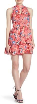 Parker Floral Keyhole Fit & Flare Dress