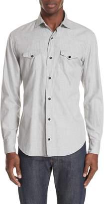 Eleventy Trim Fit Western Shirt