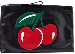 RED Valentino Patent-Appliquéd Leather Clutch