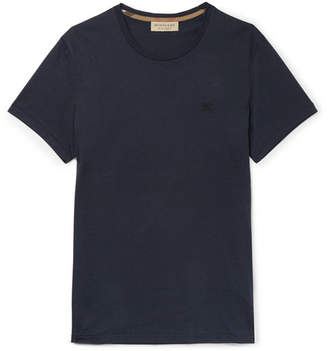 Burberry Cotton-Jersey T-Shirt - Navy