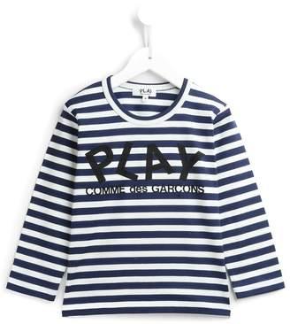 Comme des Garcons Kids striped logo print sweatshirt