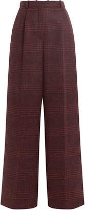 Sonia Rykiel Printed Alpaca-Virgin Wool Wide Leg Pants