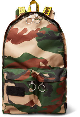 Off-White Logo-Trimmed Camouflage-Print Canvas Backpack