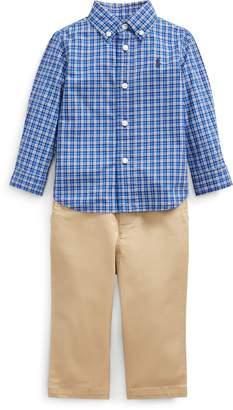 Ralph Lauren Plaid Shirt, Belt & Pant Set