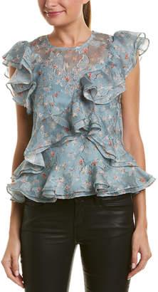 Rebecca Taylor Serra Organza Silk-Blend Top