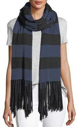 LAmade Striped Fringe Cardigan Wrap