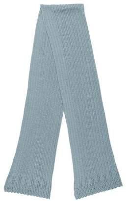 Christian Dior Silk-Blend Knit Scarf