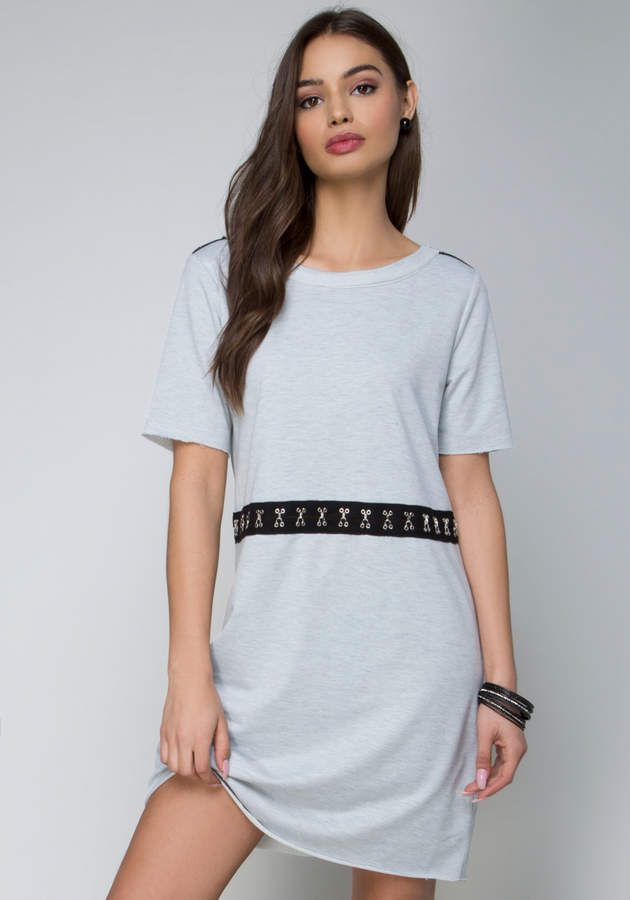 Terry Hook-and-Eye Dress