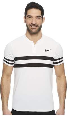Nike Court Dry Advantage Stripe Tennis Polo Men's Short Sleeve Pullover