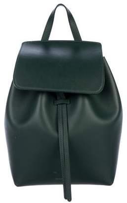 Mansur Gavriel Leather Drawstring Backpack