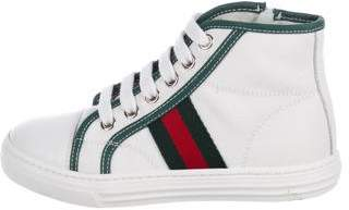 Gucci Boys' High-Top Canvas Sneakers
