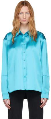 we11done Blue Satin Shirt