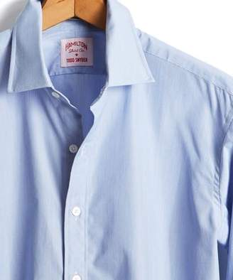 Hamilton Made in the USA + Todd Snyder Microstripe Dress Shirt in Blue