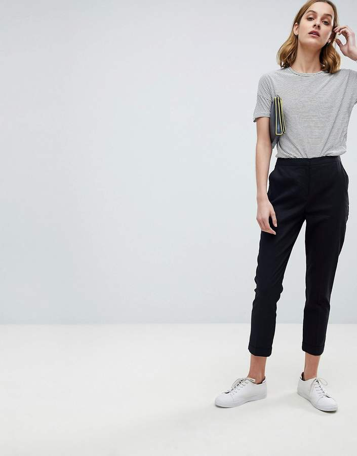 Design Tailored Linen Cigarette Trousers