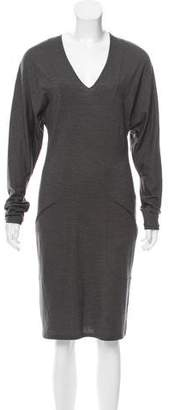 Helmut Lang Long Sleeve Knee-Length Dress