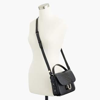 J.Crew Harper crossbody bag in croc-embossed leather
