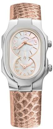 Philip Stein Teslar Women's Signature Dual Time Zone Watch, 42mm x 27mm