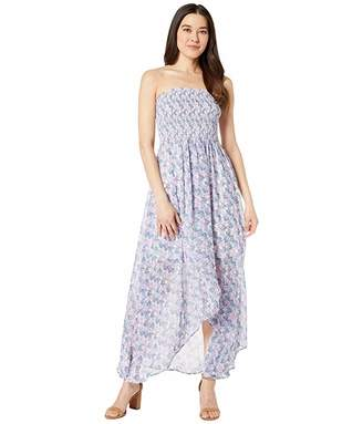Vince Camuto Smocked Bodice Charming Floral Dress