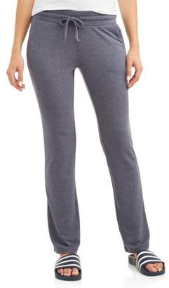 Athletic Works Women's Athleisure French Terry Bootcut Sweatpant