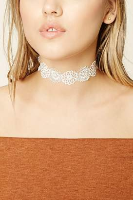 Forever 21 Floral Lace Choker